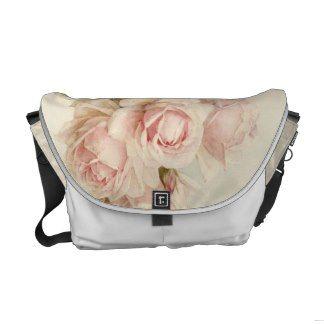 Vintage Victorian Romantic Roses Messenger Bags