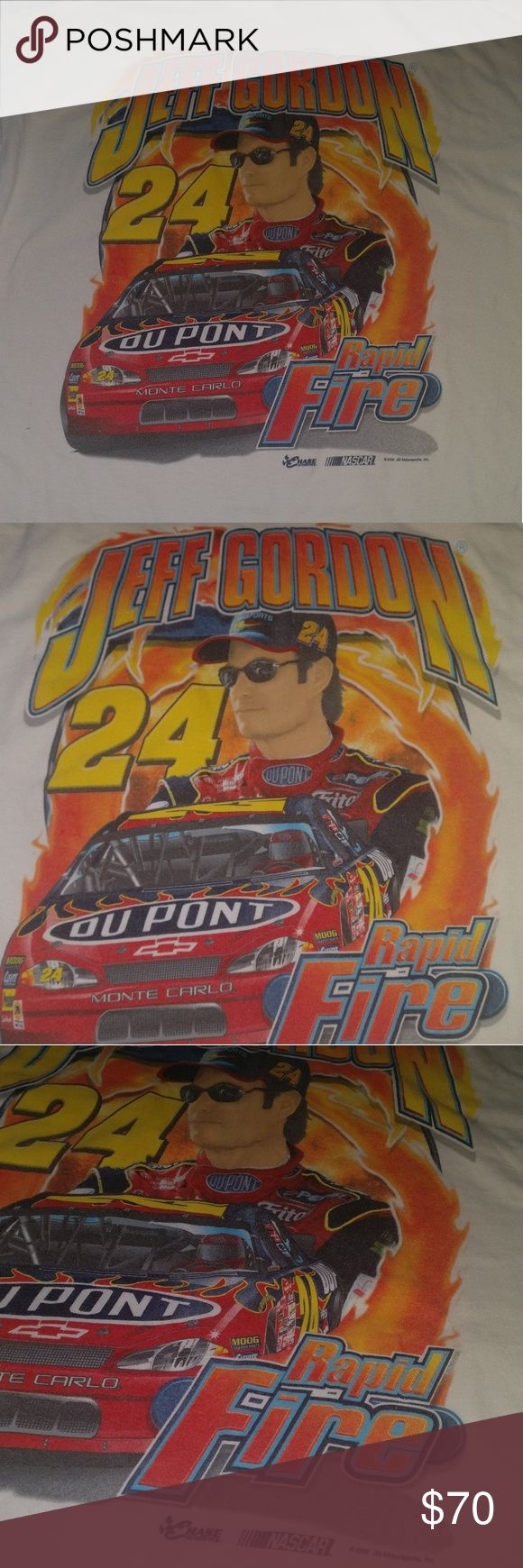 Chase Authentics Mens Jeff Gordan Nascar T Shirt Chase Authentics Mens Jeff Gordan Nascar T Shirt  Size XL  Gently Pre-owned - No Holes, Rips, Or Stains  Pocket on front of Shirt and Big Jeff Gordan Graphic on the back.   White Nascar T Shirt. Chase Authentics Shirts Tees - Short Sleeve