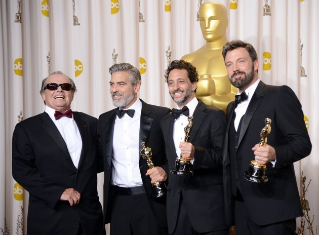 85th Annual Academy Awards - Press Room-Jack Nicholson, George Clooney, Grant Heslove, and Ben Afflick