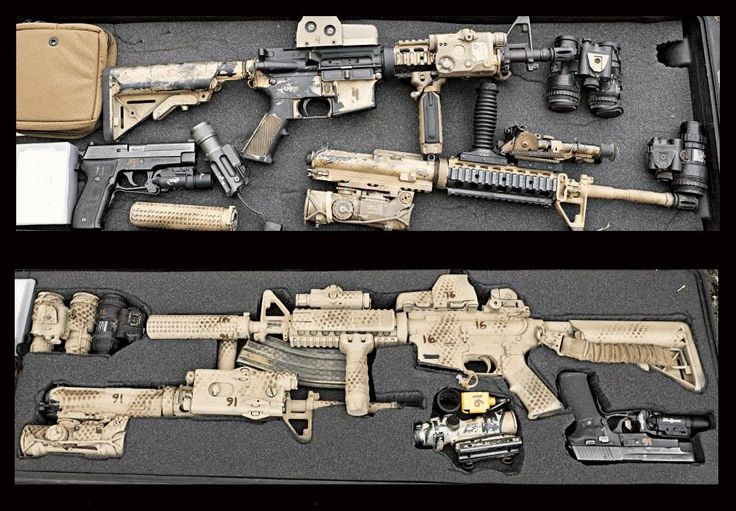 Navy SEALs deployment gun cases