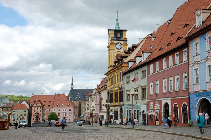The beautiful little town of Cheb in the Czech Republic..