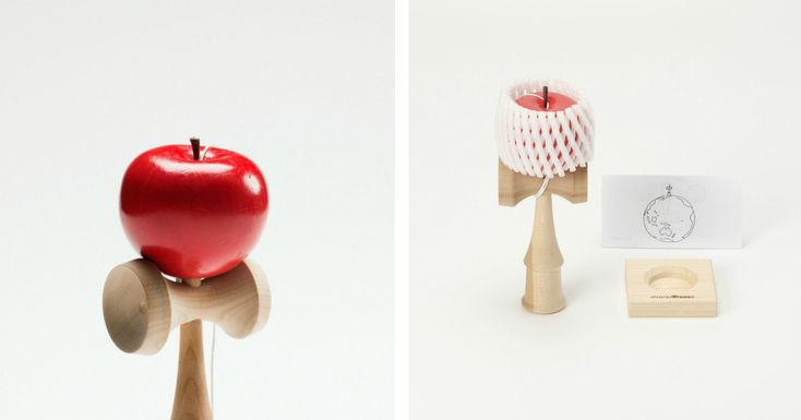 Isaac Newton-Inspired Apple Kendama by Yasuhiro Suzuki