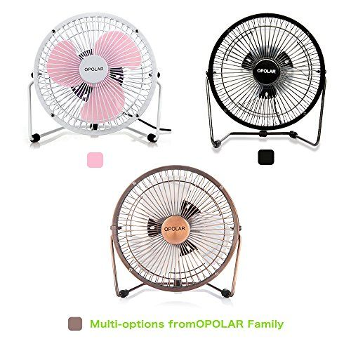 OPOLAR F501 Desktop USB Fan with Upgraded 6 Inch Blades, Enhanced Airflow, Lower Noise, Metal Design, USB Powered, Personal Table Fan, Mini Cooling Fan, Small Desk Fan, Quiet Office Fan