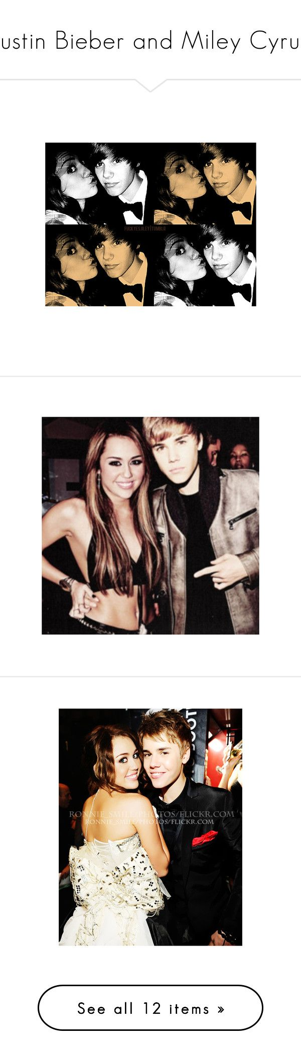 """Justin Bieber and Miley Cyrus"" by freakender4life ❤ liked on Polyvore featuring jiley, miley cyrus, justin bieber, pictures, celebrities, justin & miley, justin and icons"