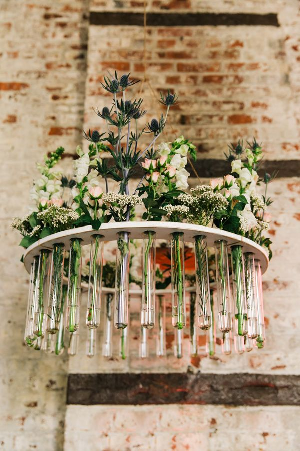 floral chandelier, photo by Cassidy Parker Smith http://ruffledblog.com/notwedding-nyc #weddingideas #chandeliers
