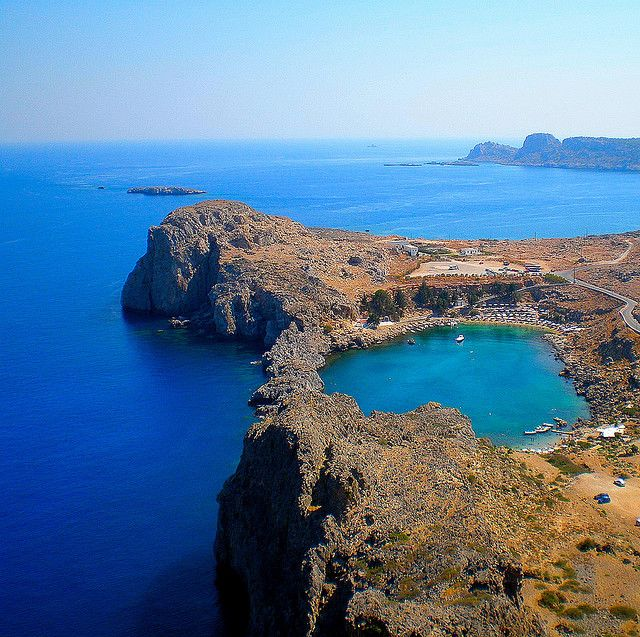 St. Paul's Bay, Lindos - Rhodes, Greece