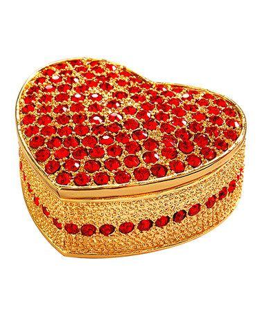 Look at this #zulilyfind! Heart Crystal Gift Box #zulilyfinds