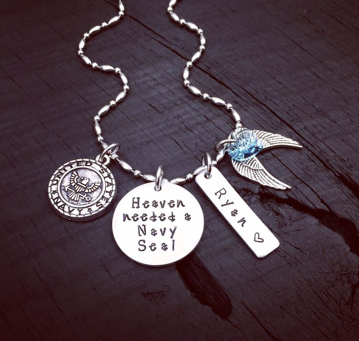 Fallen Soldier Memorial Necklace | CHOOSE YOUR BRANCH | Heaven Needed An Airman | Army Soldier | Coast Guard | Marine | Navy Seal | Soldier by SecretHillStudio on Etsy https://www.etsy.com/listing/516795243/fallen-soldier-memorial-necklace-choose