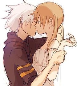 For love is as strong as death. soul eater....ok i dont like romance but this is my fav dream couple!!!