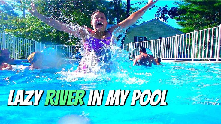 Diy lazy river pool vlog with keepin it relle lazy