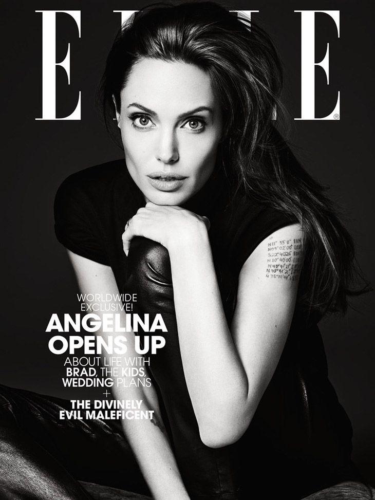 Angelina Jolie for Elle US by Hedi Slimane [: