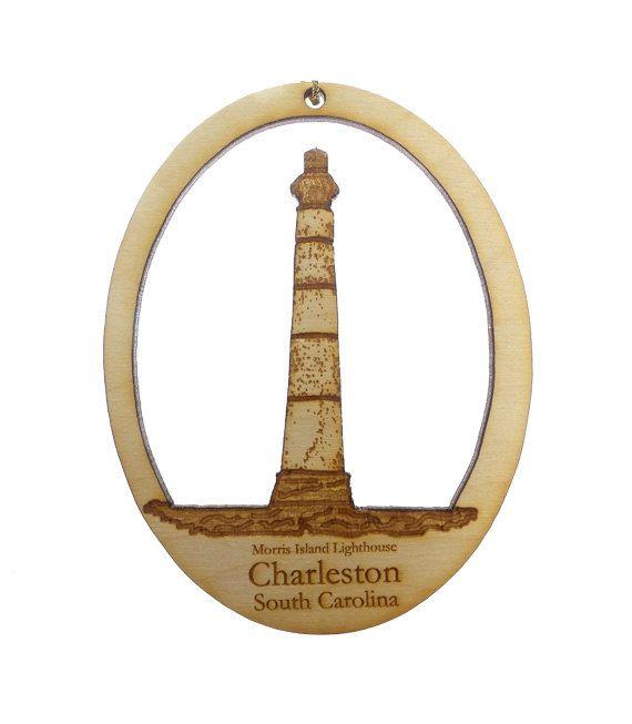 Morris Island Lighthouse Ornament- Charleston, SC Ornament - Lighthouse Ornaments - Lighthouse Decor - Lighthouse Gift - Lighthouse Gifts