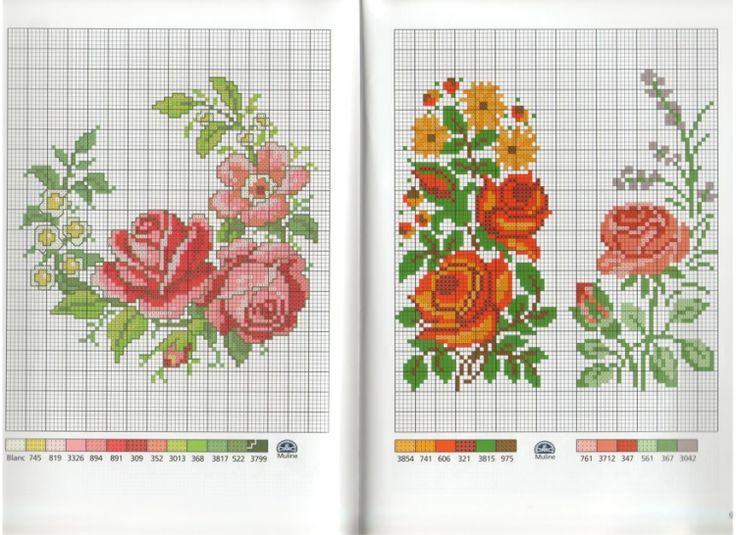1000 images about fleur roses flower point de croix cross stitch on pinterest. Black Bedroom Furniture Sets. Home Design Ideas