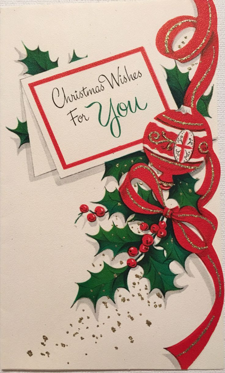A personal favorite from my Etsy shop https://www.etsy.com/listing/477328143/vintage-christmas-card-christmas-wishes