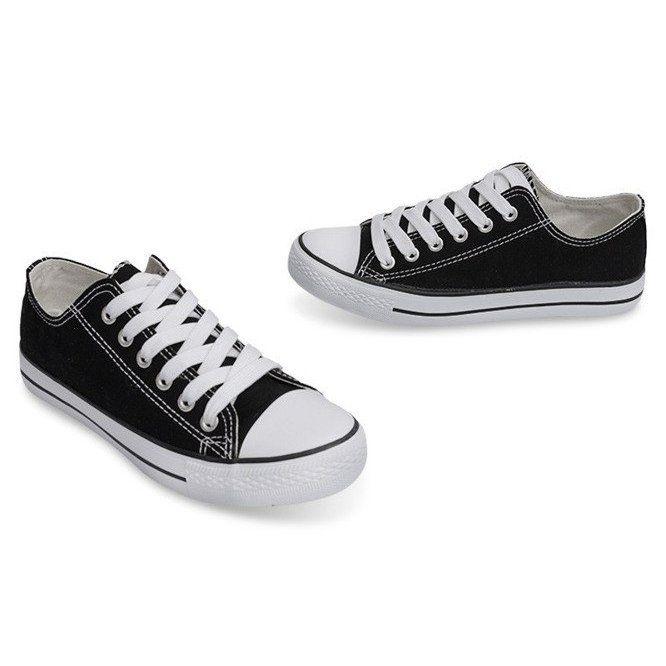 Wysokie Trampki 8223 Czarny Czarne Sneakers High Sneakers Classic Sneakers