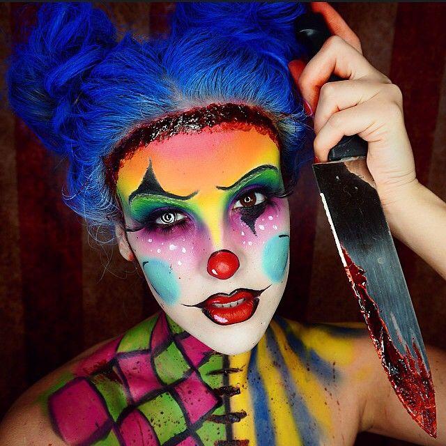 Colorido maquillaje de payaso