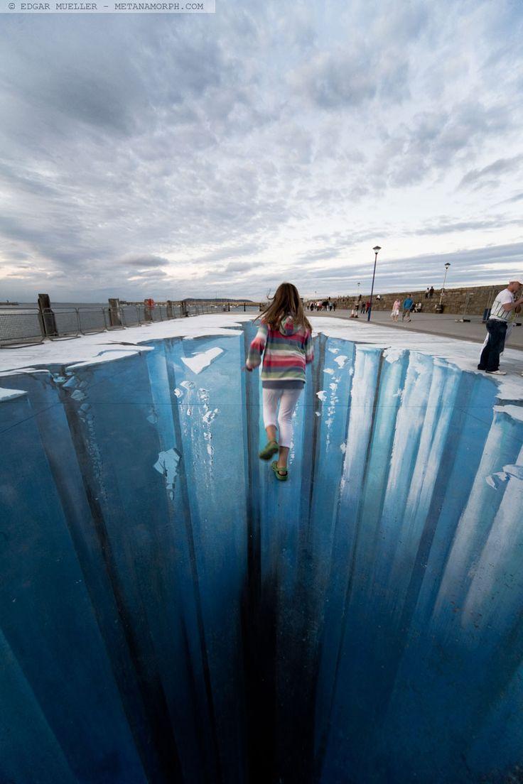 amazing breathtaking artwork the crevasse by edgar mueller