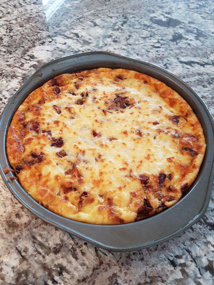 Caramelized Onion, Bacon and Gruyere Quiche