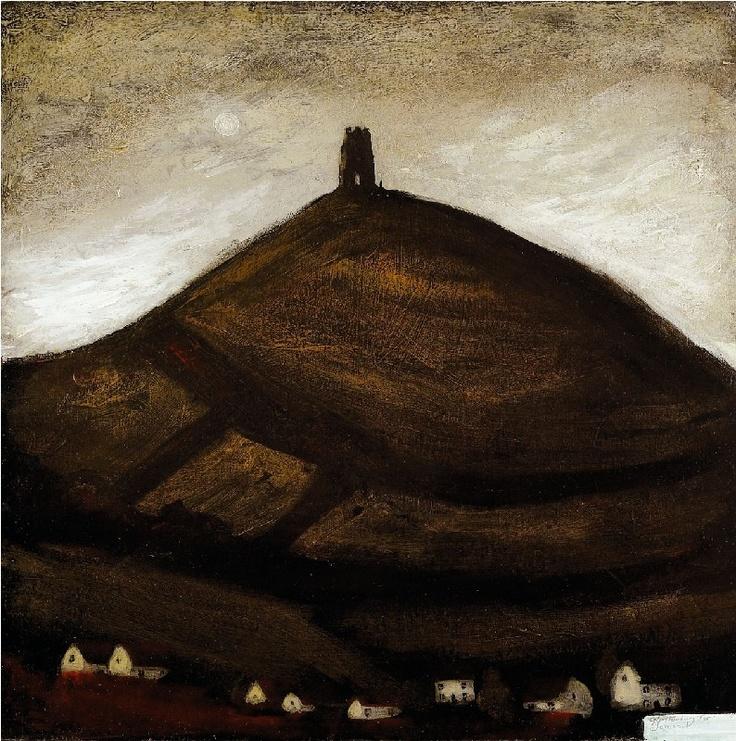 """Glastonbury Tor"" by John Caple. www.jmlondon.com/artists/john-caple/"