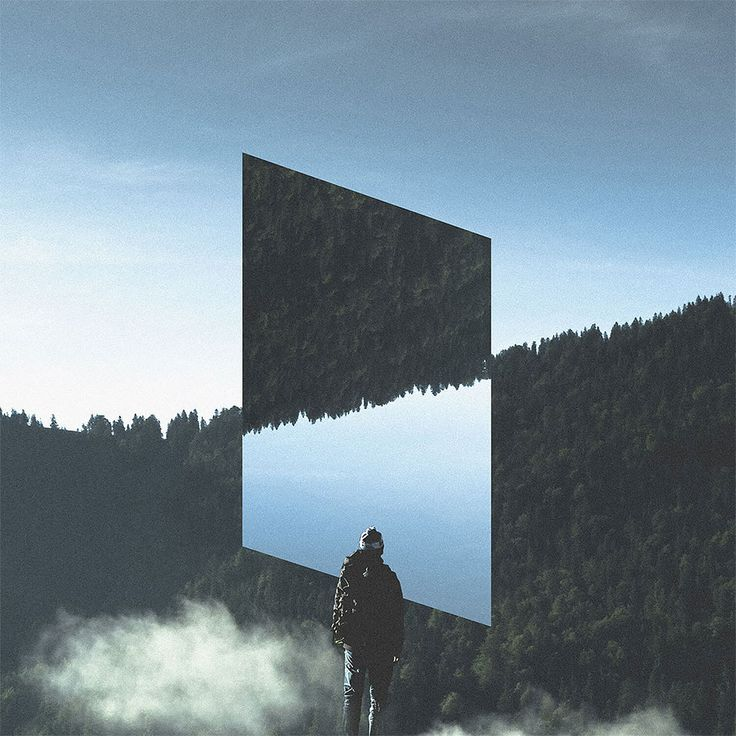 """Rigved Sathe is a talented freelance graphic designer currently based in Pune, India. Rigved received his BA in Design and Visual Communications from Symbiosis Institute of Design.     """"Landscape Mirrors"""" is a self-initiated project aims to explore the integration of technology and beautiful loc"""