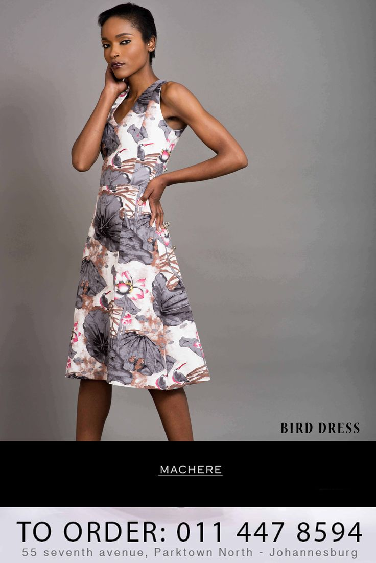 #MachereSummer2014Collection order your 'Bird Dress' now. Call us on 0114478594 / Macherep@gmail.com