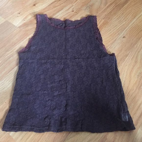 Only Hearts lace tank Semi-sheer chocolate lace tank perfect for any occassion. Only Hearts Tops Tank Tops
