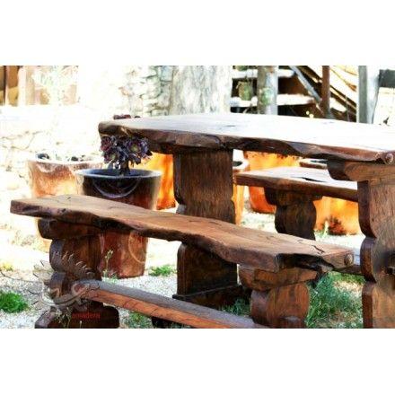 Banc de jardin en bois exotique mobilier ext rieur for Mobilier exterieur bois