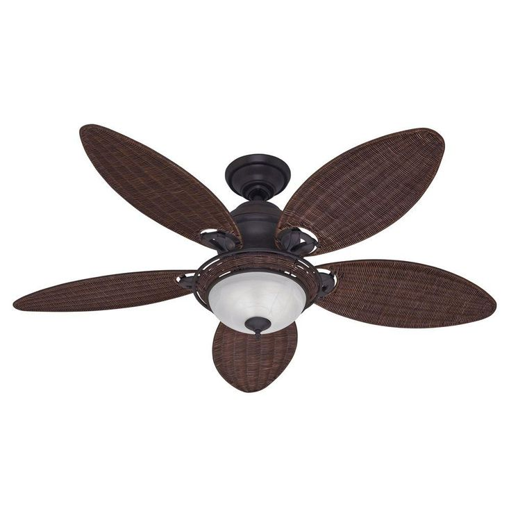 Indoor Weathered Bronze Ceiling Fan With Light Kit