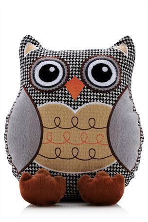 Fabric Owl Door Stop   <3