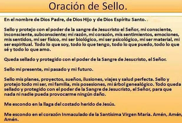 Oracion de Sello