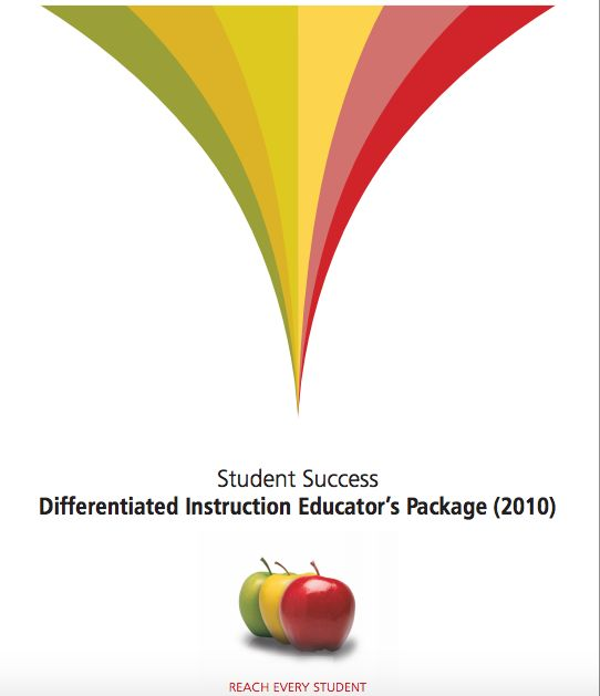The Differentiated Instruction Educator's Package (2010) is crucial in an environment where educators are determined to create a positive and inclusive tone. This document encourages knowing your learners and creating constant meaningful learning experiences where effort leads to success.