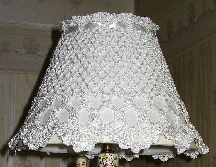 Crochet Pattern Lovely Lampshade : 17 Best images about Lamp Shades on Pinterest Lace lamp ...
