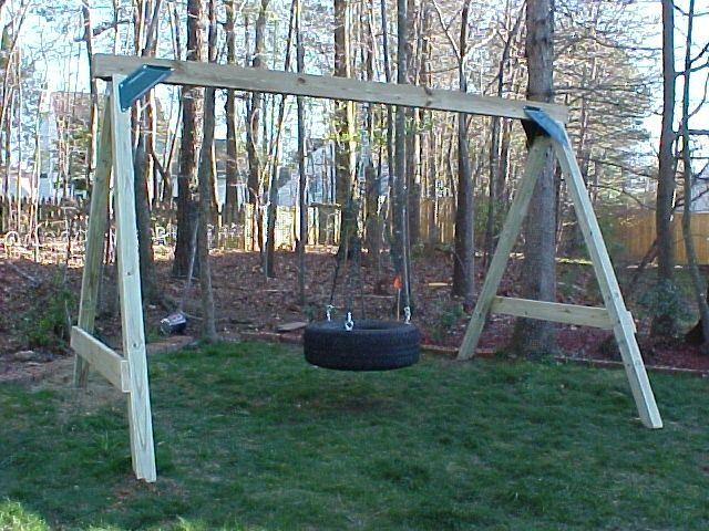 build a tire swing frame woodworking projects plans