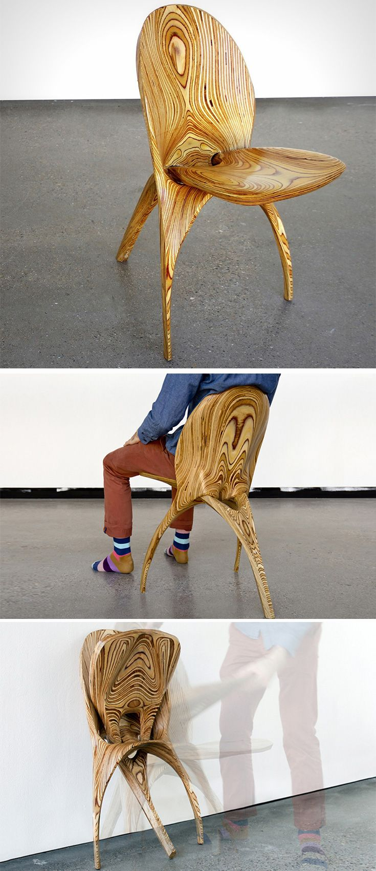 The Stratum chair has an unconventional form and is nothing like anything you've ever seen.