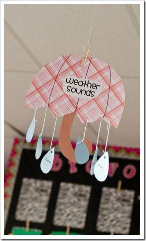 Love this!! Great idea for teaching weather vocab!!! Too cute!
