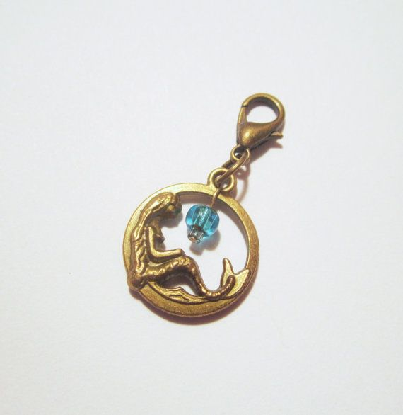 Vintage Style OOAK Mermaid Blue Charm for a by NewUsedVintage, $5.00