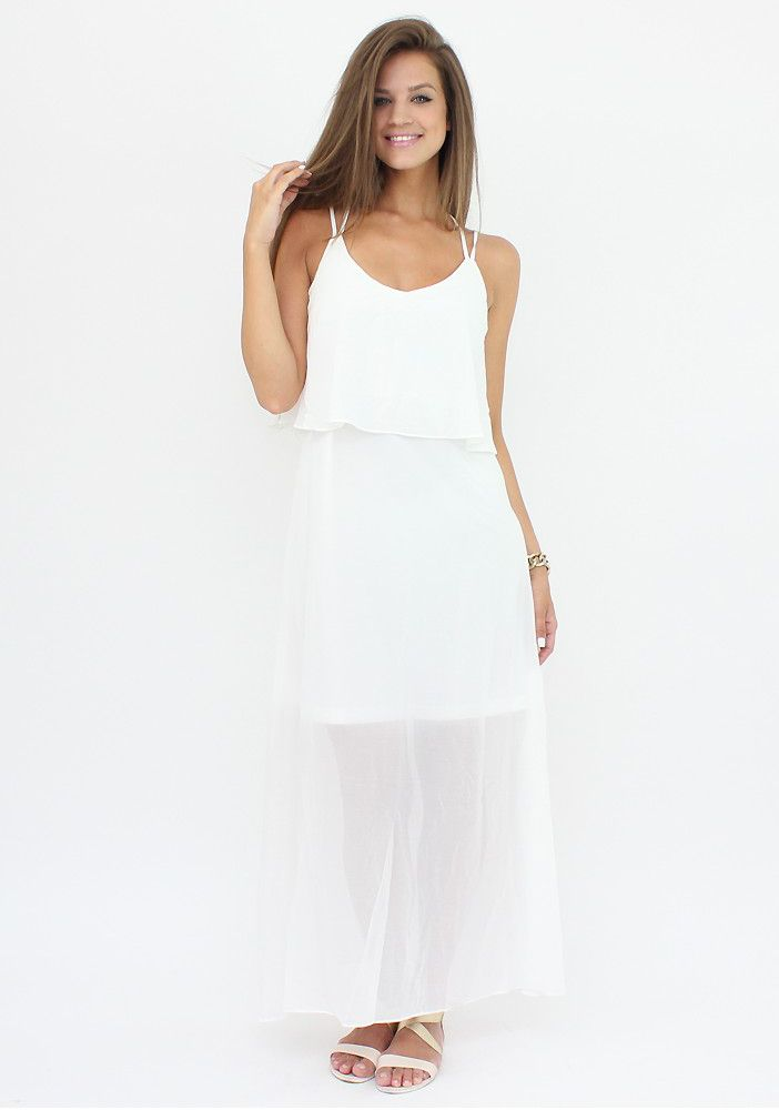 White Sheer Maxi Dress for an angelic look...:)  #dress #moda #shopping #white