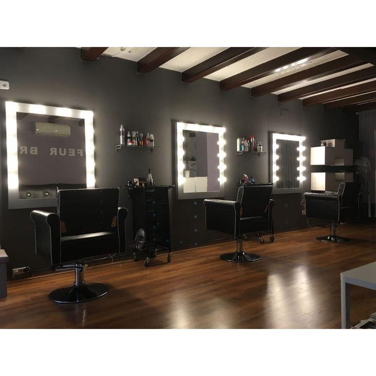 Espejo de maquillaje con luz de 88x108x6 cm lacado - Espejos de tocador con luz ...