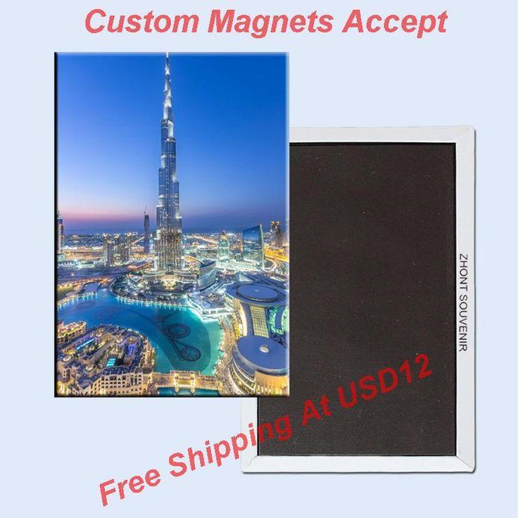 Прямоугольник Жесткой Магниты, объединенные Арабские эмираты/ОАЭ Дубай Ха Фарли башня Металл Холодильник Магнит 5599 Туристические Сувениры