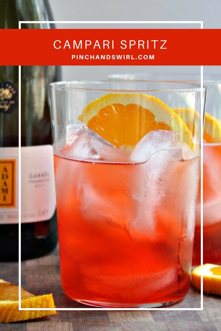 Campari Spritz cocktails are the ultimate refresher on a hot day and we have Italians to thank for them! They're bright and sweet and bubbly and the right amount of bitter. You can make a spritz cocktail with Campari or Aperol (sweeter).
