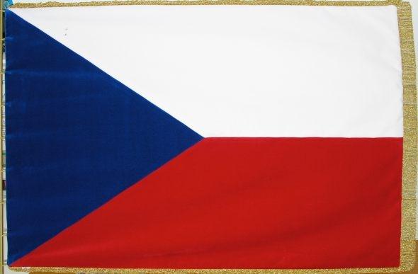 Ceremonial flag of the Czech Republic of velvet