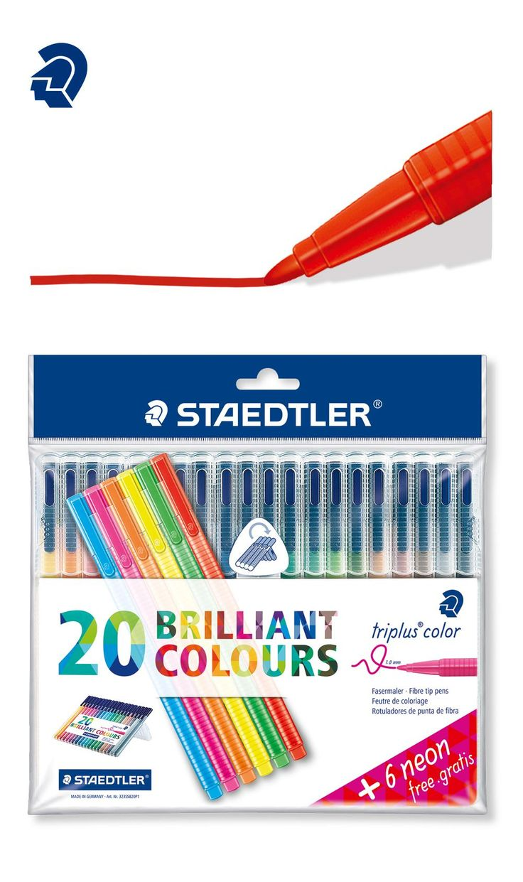 Staedtler 323 SB20 Triplus Colour FibreTip Pen Desktop