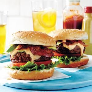 BLTA Burger | MyRecipes.com. Bacon brings the flavor, while avocado brings the chill. Enjoy the fusion of a BLTA sandwich and a burger by combining them together for the ultimate sandwich experience.