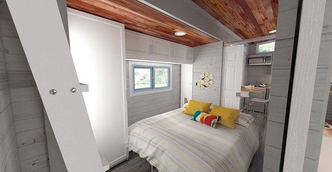 aurora une mini maison extensible qui passe de 20 m 32 m ecologie pinterest mini. Black Bedroom Furniture Sets. Home Design Ideas