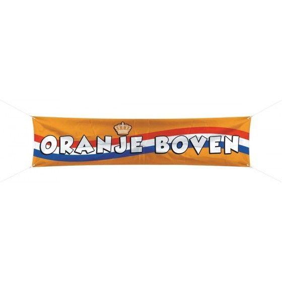 Spandoek Oranje Boven - 180 x 40 cm