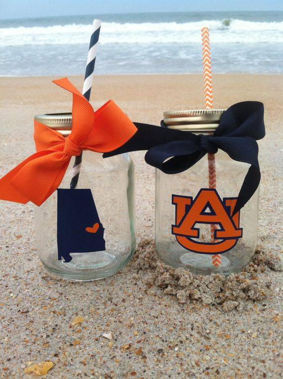 Auburn Tigers Personalized Mason Jar Cup w/ by TooCutePersonalized, $8.00