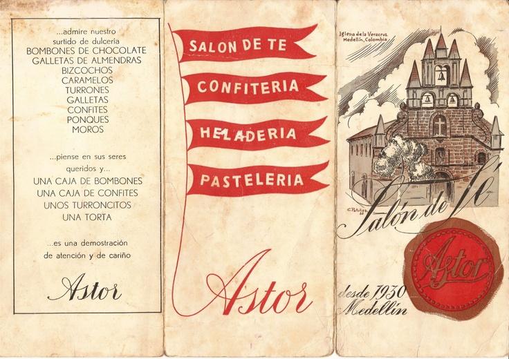 """Hoy es viernes del recuerdo en la @reposteriaastor """"Carta Menu"""" esta imagen corresponde al 1 de mayo de 1961 ... Agradecemos inmensamente a nuestra cliente y amiga del Centro Comercial  los Molinos que nos obsequio tan preciado tesoro para nuestro archivo"""