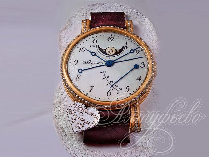 Подарочный торт золотые часы № 496