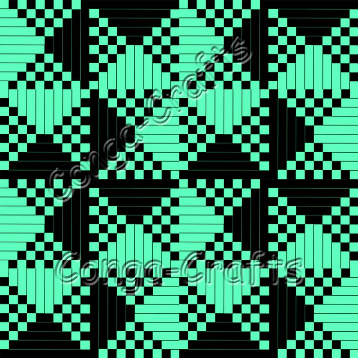 Stoffmuster Schach türkis