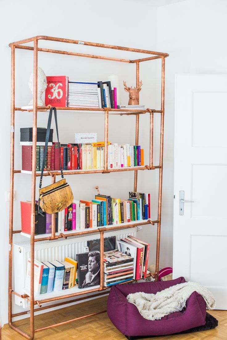 Diy Bucherregal Aus Kupferrohren Copper Pipe Bookshelve Metal